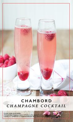 A little bubbly never hurts! Check out this recipe for a Chambord Champagne Cocktails to see how easy it can be to enjoy this combination of Chambord® liqueur, champagne, and fresh raspberries with your friends at brunch or at your next bridal shower.