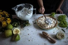Lemon Tart Meringue Summer Recipe with Caramel Sauce & Pistachios - Cinnamon Spice by Athena Konstantinou
