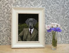 Black Labrador Dressed in Countryside Tweed by YourPetInUniform  A perfect gift for pet lovers, and are a fantastic unique gift for black Labrador owners.  This county chic design was inspired by working dogs, dogs that have a strong purpose in life.