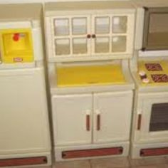 Vintage little tikes kitchen cabinet-cupboard w/dishes   Cupboard ...
