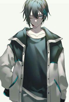 Dark Anime Guys, Cool Anime Guys, Handsome Anime Guys, Anime Oc, Manga Anime, Cute Characters, Anime Characters, Anime Black Hair, Brown Hair Anime Boy