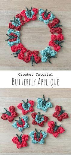 Crochet Video, All Free Crochet, Cute Crochet, Beautiful Crochet, Crochet Owls, Crochet Food, Crochet Animals, Crochet Butterfly Free Pattern, Easy Crochet Patterns