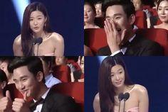 nice Jeon Ji Hyun calling Kim Soo Hyun during his speech at the 50th Baeksang Arts Awards
