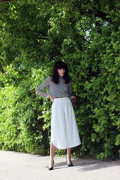 fashion worries: CONTRASTS Zara Tops, Midi Skirt, Contrast, My Style, Skirts, Fashion, Spirit, Moda, Skirt