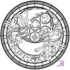 Stained Glass: This Day Aria -line art- by Akili-Amethyst.deviantart.com on @deviantART
