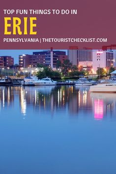 Considering what to do in Erie PA?, here are top attractions, best activities, places to visit & best things to do in Erie, Pennsylvania. Plan your travel itinerary & bucket list now! #erie #eriepa #thingstodoinerie #pennsylvania #pennsylvaniatravel #usatrip #ustravel #travelusa #ustraveldestinations #travelamerica #vacationusa #americatravel Usa Travel Guide, Travel Usa, Presque Isle State Park, Erie Pennsylvania, Great Lakes Region, Us Travel Destinations, Boat Tours, Experiential, Travel Around