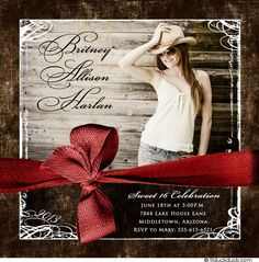 country western graduation invitations