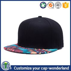 116dd3916b1 Custom 6 panel sublimation printing brim plain without logo snapback caps  and hats for women and men