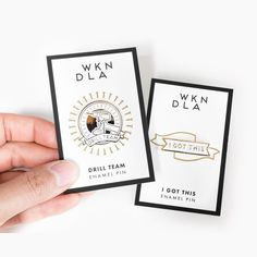 Each enamel pin comes on a @moo card with gold foil details!  Do you know someone you want to cheer on? They are always $12 with free shipping! by wkndla
