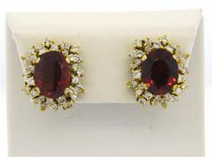 Gold Garnet Diamond Cocktail Earrings Featured in our upcoming auction on November 2015 EST! Simple Earrings, Stud Earrings, Vintage Style, Vintage Fashion, November 2, Garnet, Auction, Cocktail, Wedding Rings
