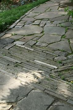 Chanticleer Garden - paving transition