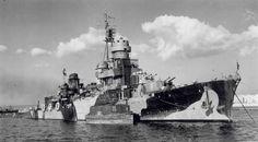 Scipione Africano was a Capitani Romani-class Italian light cruiser of the Regia Marina Navy, during World War II. Naval History, Military History, Kingdom Of Italy, Dazzle Camouflage, Terra Nova, Navy Ships, Military Equipment, Royal Navy, Battleship