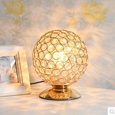 36.50$  Watch now - http://ali8zr.shopchina.info/go.php?t=32654123825 - K9 Crystal Table Lamp Light Creative Table Lamp Decoration Lighting For Study Bedroom + E27 LED Bulb Free Shipping  #buyonline