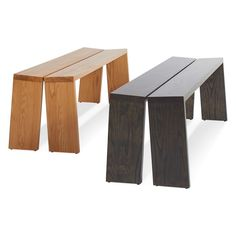 """Amicable Split 60"""" Bench - Long Wood Benches 