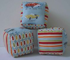 Soft Baby Cubes - free tutorial on the London Mummy blog