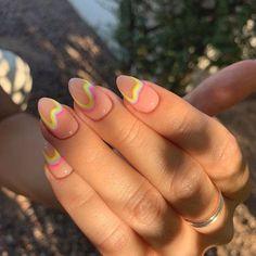 neutral nails - 36 Attractive New Manicure Nails Ideas – - Minimalist Nails, Aycrlic Nails, Nail Manicure, Nail Polish, Nail Swag, Stylish Nails, Trendy Nails, Nail Design Glitter, Glitter Nails