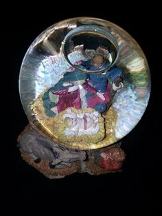 Vintage Navity Snow Globe  Nativity Scene  Jesus  by RosiesHut, $35.00