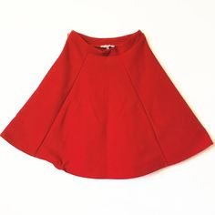 🎁SALE🎁 Red Patterned Circle Skirt Only worn once. Very true to it's size. I'm a size small and it felt tight on me SO PLEASE BE AWARE OF THAT.  ***ALSO FOUND ON Ⓜ️ ERCARI @shopcherrypop W/ FREE SHIPPING!! Charlotte Russe Skirts Circle & Skater