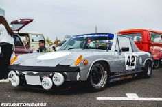 #porsche 914/6(?) all the better for some serious lowering. #retro #modified #autos