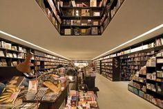 Destination Bookstore: Livraria da Vila in São Paulo, Brazil Bookstore Design, Library Cafe, Sao Paulo Brazil, Modern Books, House Gifts, Retail Design, Stairways, Ground Floor, Facade