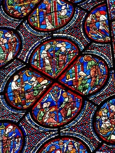 Algunas Vidrieras y rosetones de la Catedral de Chartres - (Francia). Las fotografías de Miguel Roa