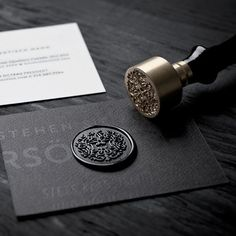 Custom Wax Seal Stamp... black on black