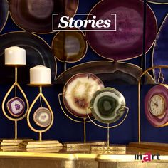 They are so much more than stones... The beauty of nature inspired our designers to create elegant and exciting pieces… so we can admire nature every day in our home. #inartStories #HomeDecor #Decoration