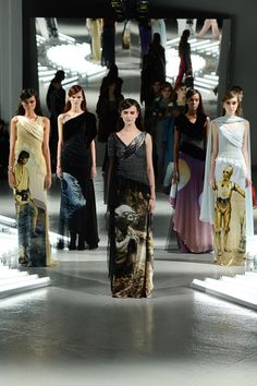 Rodarte did Star Wars dresses for New York Fashion Week. Not Star Wars inspired, literally Star Wars.