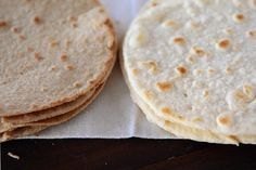 Whole Wheat OR White Flour tortillas w/ coconut oil! I could satisfy my craving for tortillas in the Philippines!
