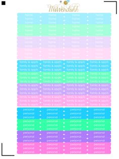 MsWenduhh Planning & Printing: How to Make Your Own Customized Section Heading Labels for Your Erin Condren Planners