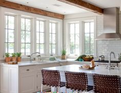Corner Windows in Kitchen Wettling Architects