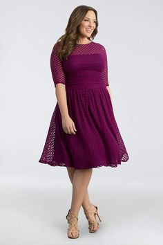 50400531772 Short A-Line 3 4 Sleeves Cocktail and Party Dress - Kiyonna