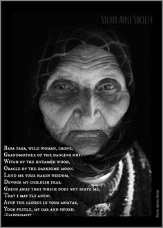 """Baba Yaga, Wildwoman, Crone, Grandmother of the dancing hut, Witch of the… Baba Yaga, Wise Women, Old Women, Maiden Mother Crone, Traditional Witchcraft, Mystique, Divine Feminine, Sacred Feminine, Gods And Goddesses"