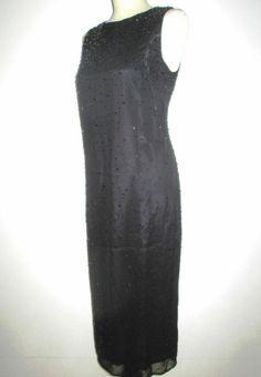 * * * MARELLA Perl-/Pailletten-Kleid schwarz, Gr.38 * * * High Neck Dress, Detail, Cocktail, Ebay, Dresses, Fashion, Sequin Gown, Clothing Accessories, Gowns