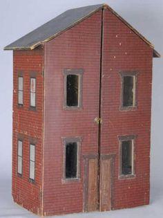 Dollhouse   American Handmade Brick Façade 2-Story 5 Rooms  Rick Maccione-Dollhouse Builder www.dollhousemansions.com