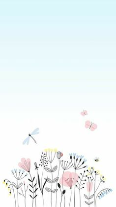 Flower Background Wallpaper, Flower Phone Wallpaper, Cute Wallpaper For Phone, Cute Patterns Wallpaper, Flower Backgrounds, Wallpaper Backgrounds, Iphone Wallpaper, Folk Art Flowers, Flower Art