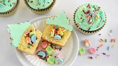 Purely to challenge myself. Not because I celebrate. Surprise-Inside St. Paddy's Day Cupcakes