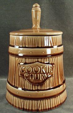 Vintage Cookie Churn McCoy Cookie Jar