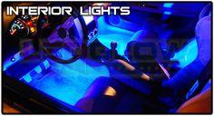 Led glow interior car lights  http://www.wicked-gadgets.com/led-glow-interior-car-lights/  #car #gadgets #LED #cool #stuff #pimp