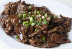 Photo about Chinese style stir fried beef slices with spring onion. Image of meal, chinese, stir - 23619953 Beef Recipes, Cooking Recipes, Modern Food, Fried Beef, Beef Stir Fry, Steak, Food And Drink, Vegetarian, Yummy Food