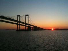 Sunset on Delaware Memorial Bridge, Delaware