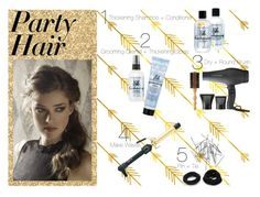 """""""Party Hair"""" by amiedavis523 ❤ liked on Polyvore featuring beauty, Forever 21, Hot Tools, Bumble and bumble, Monki, Retrò, Sephora Collection, Philip B, hairstyle and holidaystyle"""