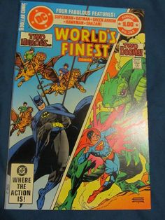 WORLDS FINEST 282  NM 9.4! TWO HEROES TWO DOOMS FOUR FABULOUS FEATURES