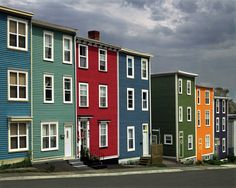 Newfoundland.  I love these colors.  I sure wish townhouses in my part of the country were painted like this.