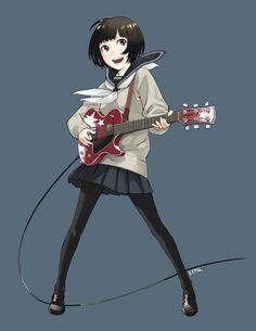 Guitar girl by ~KYMG on deviantART