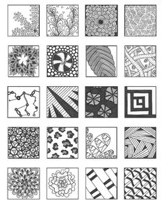 ZENTANGLE PATTERNS noncat 9 | Flickr - Photo Sharing!