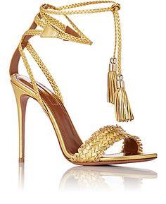 Aquazzura Sun Valley Ankle-Tie Sandals - Sandals - Barneys.com