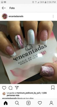 Discover recipes, home ideas, style inspiration and other ideas to try. Gel Manicure Designs, Glitter French Manicure, Manicure Colors, Manicure E Pedicure, Nail Colors, Nail Art Designs, Nude Nails, White Nails, Pink Nails