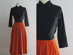 1940s Corduroy Dress / Vintage 40s Daryl by SavvySpinsterVintage, $125.00