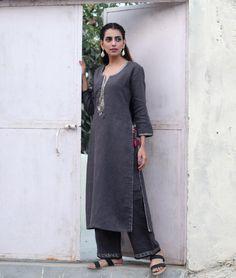 Buy A Classic Wardrobe by Manan Zardozi linen kurtas, pants for women and cotton kurtas, jackets for men Online at Jaypore.com